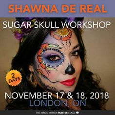 Sugar Skull Face Paint, Magic Mirror, Projects To Try, Halloween Face Makeup, Fancy, Painting, Skulls, Day Of The Dead, Painting Art