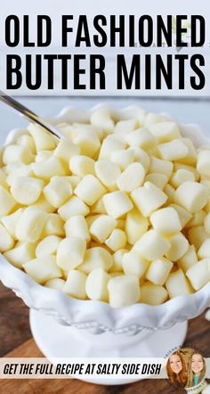 Old Fashioned Butter Mints – delicious, buttery, and creamy – reminds you of being a kid. Did you know these are no bake? Source by therecipecritic Mint Recipes, Retro Recipes, Fudge Recipes, Candy Recipes, Sweet Recipes, Holiday Recipes, Snacks Recipes, Köstliche Desserts, Delicious Desserts