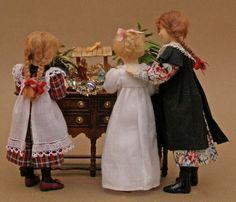 marie france beglan dolls around a creche