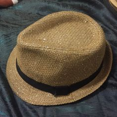 Claire's glittery brown and black fedora Well structured Claire's Accessories Hats