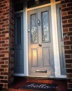 Take a look at the jobs completed by The Window Company including Bi-Folding Doors, Conservatories, Doors, Sash Windows, Stained Glass and Window… – hallway Grey Front Doors, Front Door Porch, Porch Doors, House Front Door, Front Door Colors, House With Porch, Entry Doors, Sash Windows, Windows And Doors
