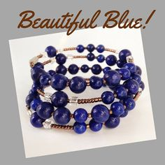 This rosary uses beautiful opaque beads in a bold, cobalt blue color. Separating the 6mm and 8mm beads are bronze seed beads and the Our Father beads are also set apart by silver-lined clear beads on either side. The cross is a milky, white transparent glass bead with a gold crucifix stamped on it.  The Wrap-Around-a-Rosary was created to fill two specific needs. If women today are going to maintain a devotion to the rosary they need something accessible, not tucked in the glove box or…