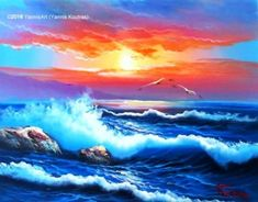 Oil Painting On Canvas, Oil Paintings, Canvas Frame, Greece, Waves, Ocean, Stretched Canvas, The Originals, Artist