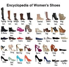 encyclopedia of woman's shoes or visual shoe dictionary