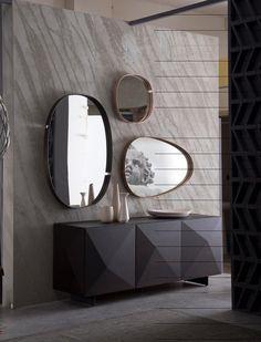 Wooden sideboard with doors | www.bocadolobo.com | #luxuryfurniture #mirrorideas