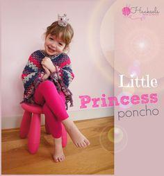 Little Princess Poncho Poncho Shawl, Crochet Poncho, Crochet Baby, Inspire Others, Little Princess, Free Pattern, About Me Blog, Children, Shawls