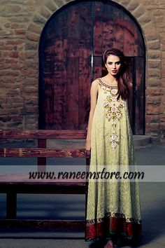 Design HER1151, Product code: HER1151, Beautiful and trendy Pakistani evening wear designer dresses 2013