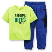 Bright yellow jersey top and soft French terry pants are a perfect duo for bed time or lazy Saturday mornings.