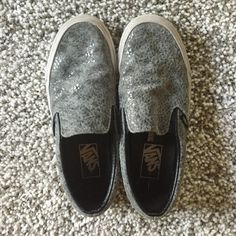 VANS Grey pebble slip on sneaker great condition Gently worn, still in great condition. Size 7 but would definitely got a 7.5 as they run a bit wide. Such a great casual sneaker! Vans Shoes Sneakers