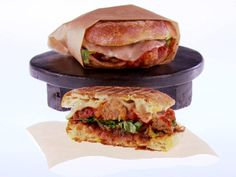 Meatball Panini Recipe : Giada De Laurentiis. I love meatball sandwiches, making it a panini sounds delicious. Also includes a baked turkey meatball recipe