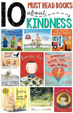10 Must Read Books about Kindness for the Classroom- Love all the book suggestions in this post! Could use around Valentine's Day or for the beginning of the year. Books About Kindness, Kindness Activities, Teaching Kindness, Teaching Empathy, Kindness Ideas, Health Activities, Reading Activities, Reading Lists, Toddler Activities