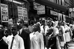 Eve Arnold—Magnum  Children line up outside a Nation of Islam meeting at the Uline Arena, Washington, D.C., 1961