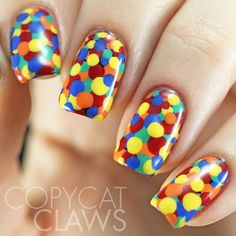 Copycat Claws: Primary Color Dotticure