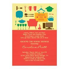 Around the house bridal shower invitation shower pinterest around the house bridal shower invitation filmwisefo