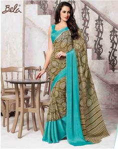 - Platform for Women Georgette Sarees, Women Empowerment, Business Women, Print Design, Sari, Platform, Fancy, Blouse, Brown