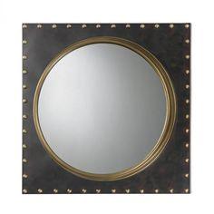 Metal Frame Rivet Porthole Mirror : 43UDR | The Lighting Gallery
