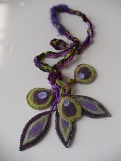 textile necklace di Elena Fiore