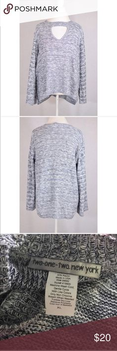 """Gray keyhole Oversized Sweater 212 collection 29"""" long longer in the back 20"""" pit to pit Nordstrom Sweaters"""