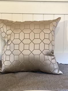 A personal favorite from my Etsy shop https://www.etsy.com/listing/553784658/taupe-geometric-throw-pillows