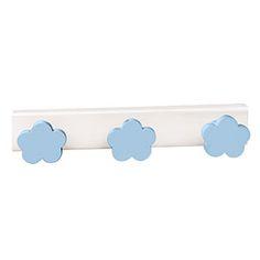 perchanubes azul celeste madera lacada perchero colgador tienda venta directa online descuento rebaja n423