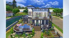 Prohlédněte si tento pozemek v Galerii The Sims 4! - modern house near river…