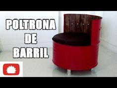 Como fazer Poltrona de barril - DIY   Na oficina - S02E25
