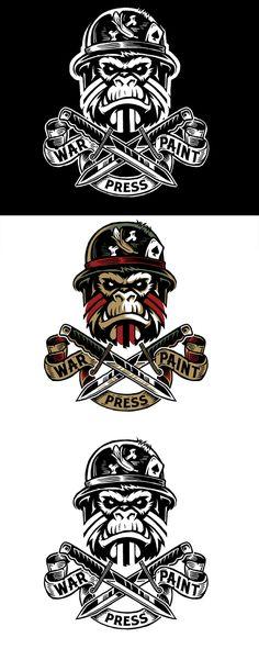 Dribbble - warpaint-press-daggers-logos-dribble.jpg by Derrick Castle