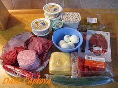 Slaný dort - podkova , ozdoby na slané torty, fotopostupy | Tortyodmamy.sk Snacking, Sausage, Easter, Beef, Food, Meat, Meal, Sausages, Essen
