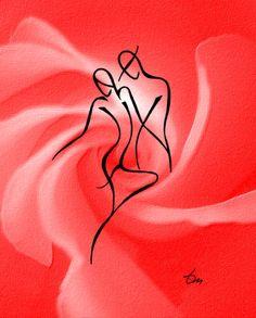 "Saatchi Art Artist: Tatyana Markovtsev; other Drawing ""tango1"""