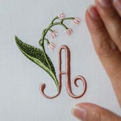 Lily of the Valley Alphabet- A to Z...machine embroidery, see all letters...