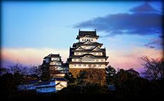 Himeji Castle at Sunrise -- The White Heron Castle; the best one in Japan!! //By David LaSpina