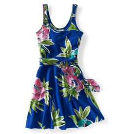 Floral Circle Knit Dress - Aeropostale