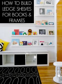 We built 7 ledge shelves for books and frames for $65! You can too!