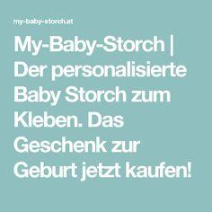 My-Baby-Storch | Der personalisierte Baby Storch zum Kleben. Das Geschenk zur Geburt jetzt kaufen! Personalized Baby