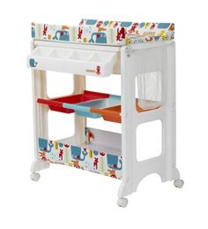 Practical and fun baby changer with each-reach compartments and colourful design from Cosatto