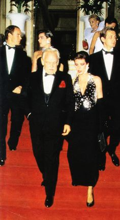 Prince Rainier with Princess Caroline and in the rear: Prince Albert and sister, Princess Stephanie Princess Grace Kelly, Princess Alexandra, Princess Stephanie, Royal Brides, Royal Weddings, How To Be Graceful, Monaco Royal Family, Prince Albert, Royal Fashion