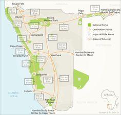 Namibia Self Drive Distances