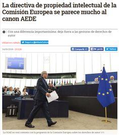 La directiva de propiedad intelectual de la Comisión Europea se parece mucho al canon AEDE / @eldiarioes | #readyforeurope #readytocopy