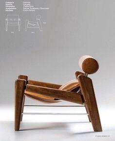 """Zanini de Zanine's """"Serfa"""" armchair is a tribute to both Sergio Rodrigues and Ricardo Fasanello two masters of mid-century Brazilian design"""