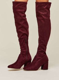 8d5fb1385 KITTIE Over The Knee Burgundy now £25 Burgundy Boots, Over The Knee Boots,