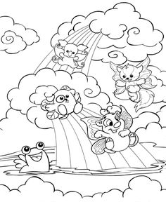 Coloring Page Neopets Faerieland