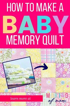 Want to make a quilt from baby clothes and preserve those precious memories and keepsake outfits? A simple rag quilt is a great way to do it! Learn how to make one here. Baby Memory Quilt, Baby Quilts, Memory Quilts, Diy Baby Clothes Quilt, Chalk Pencil, Baby Memories, Baby Must Haves, Rag Quilt