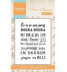 Marianne Design Clear Stamp Liedje: Er is er een jarig