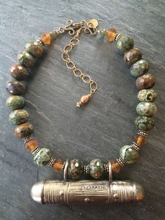 Ethnic Necklace by Barbara Flemming