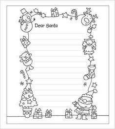 「santa letter template」の画像検索結果