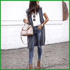 Big lapel women plain sleeveless vest coats Source by clothingishop cardigan outfit Style Casual, Casual Outfits, Fashion Outfits, Womens Fashion, Fashion Vest, Hijab Casual, Casual Jeans, Casual Clothes, Winter Clothes