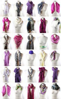 São muitos os jeitos de usar cachecol feminino, e são também muitos os modelos de cachecóis que aparecem por ai, um mais lindo do que o outro. De fios mais