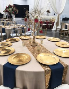 beautiful set up in the exhibit hall! Exhibit, Table Settings, Weddings, Beautiful, Wedding, Place Settings, Marriage, Tablescapes