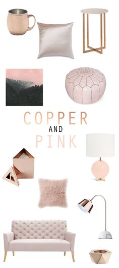 Current color obsession: copper and pink