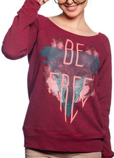 """Clothes for a cause! Sevenly is a clothing brand that helps raise money for charities. This """"Be Free"""" sweater helps raise money for the Somaly Mam Foundation which helps end sex trafficking of young women. (some are even as young as 3 or 4 years old when they're sold and spend their entire childhood suffering heinous acts of both physical and psychological pain and torture)"""